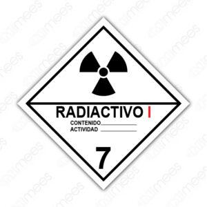 SRS 022 Rombo Clase 7 Radiactivos