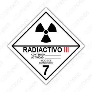 SRS 024 Rombo Clase 7 Radiactivos