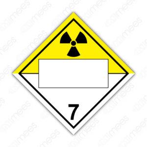 SRS 026 Rombo Clase 7 Radiactivos