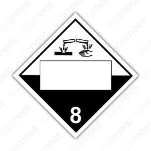 SRS 028 Rombo Clase 8 Corrosivos