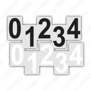 SRS 030 Números Adheribles Para Rombos (Individual)