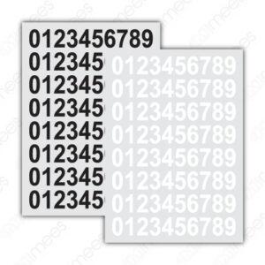 SRS 031 Planilla de Números Adheribles (Números Del 0 al 9 o a Escoger)