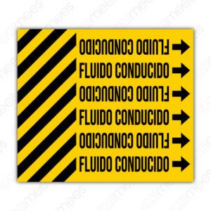 STU 003 Etiqueta Cintillo Con Franjas Adherible Para Tubería