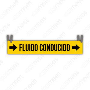 STU 005 Placa Identificadora de Fluido Con Cadena
