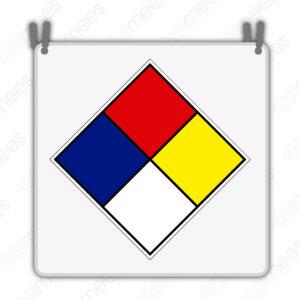 STU 006 Placa Identificadora de Riesgo Con Cadena