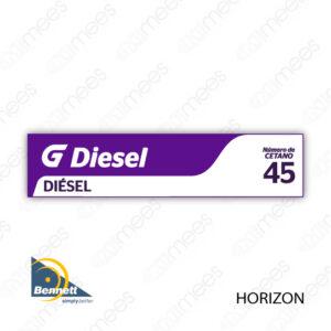 G500-CL-BH-03 Carátula Lexan G500® Bennett Horizon Diesel