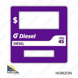 G500-CL-BH-PPL-03 Carátula Lexan G500 Bennett Horizon PPL Diesel