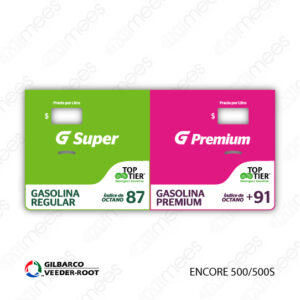 G500-CL-GE5-01 Carátula Lexan G500® Gilbarco Encore 500/500S Super/Premium