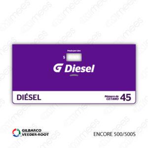 G500-CL-GE5-06 Carátula Lexan G500® Gilbarco Encore 500/500S Diesel
