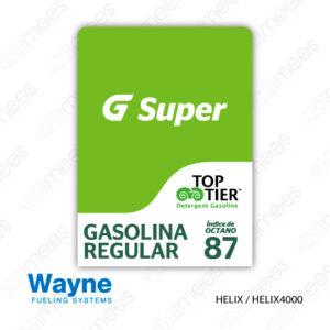 G500-CL-WH-IND-01 Carátula Lexan Wayne Helix Super