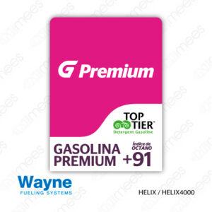 G500-CL-WH-IND-02 Carátula Lexan Wayne Helix Premium