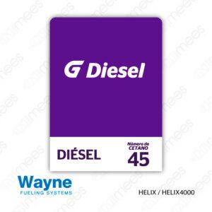 G500-CL-WH-IND-03 Carátula Lexan Wayne Helix Diesel