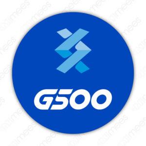 G500-SEÑ-014 Señalamiento Calcomanía Círculo Logo G500 P/Dispensario Agua   Aire