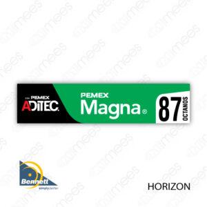 PMX-CL-BH-01 Carátula Lexan PEMEX® Bennett Horizon Magna