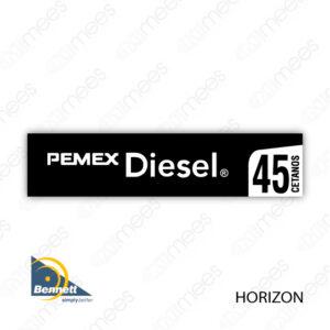 PMX-CL-BH-03 Carátula Lexan PEMEX® Bennett Horizon Premium