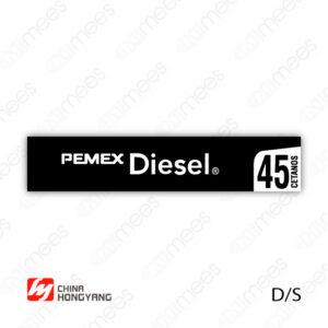 PMX-CL-HONG-03 Carátula Lexan PEMEX® Hongyang Diesel