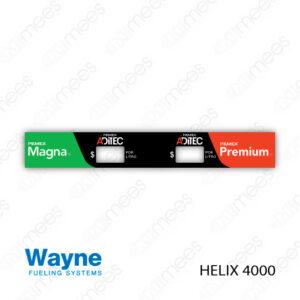 PMX-CL-WH4-01 Carátula Lexan PEMEX® Wayne Helix 4000 Magna/Premium