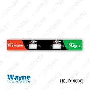 PMX-CL-WH4-02 Carátula Lexan PEMEX® Wayne Helix 4000 Premium/Magna