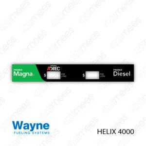 PMX-CL-WH4-03 Carátula Lexan PEMEX® Wayne Helix 4000 Magna/Diesel