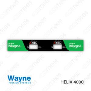 PMX-CL-WH4-04 Carátula Lexan PEMEX® Wayne Helix 4000 Magna/Magna