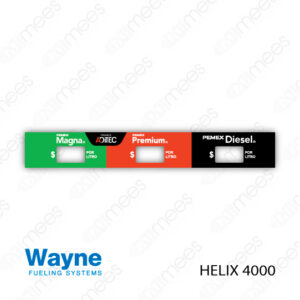 PMX-CL-WH4-07 Carátula Lexan PEMEX® Wayne Helix 4000 Magna/Premium/Diesel