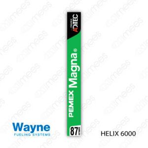PMX-CL-WH6-01 Carátula Lexan PEMEX® Wayne Helix 6000 Magna