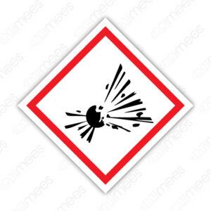 SGA 005 Señalamiento Símbolo Explosivos