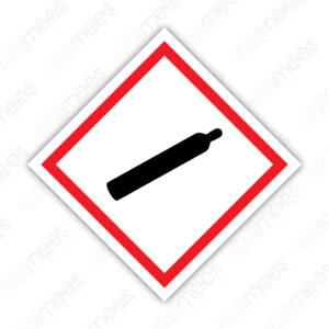 SGA 006 Señalamiento Símbolo Gas Bajo Presión