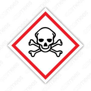 SGA 008 Señalamiento Símbolo Toxicidad