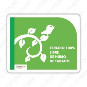 SNF 001 Señalamiento COFEPRIS Espacio 100% Libre de Humo de Tabaco