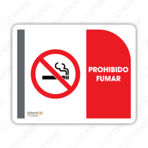 SNF 002 Señalamiento COFEPRIS Prohibido Fumar