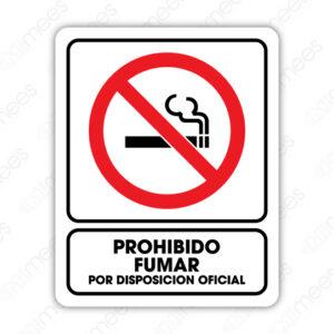 SNF 011 Señalamiento Prohibido Fumar Por Disposición Oficial