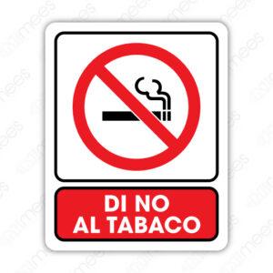 SNF 014 Señalamiento Di No Al Tabaco