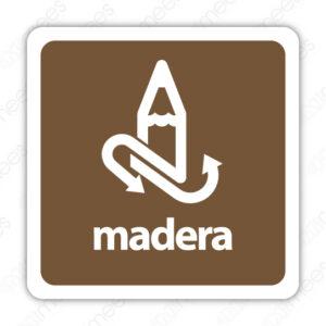 SRE 008 Señalamiento Madera