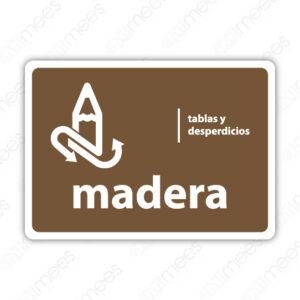 SRE 018 Señalamiento Madera