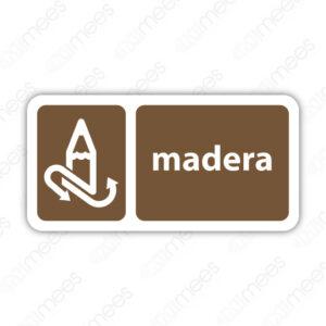 SRE 028 Señalamiento Madera