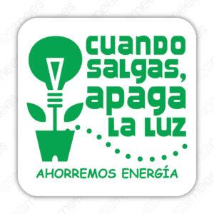 SRE 031 Señalamiento Cuando Salgas Apaga La Luz