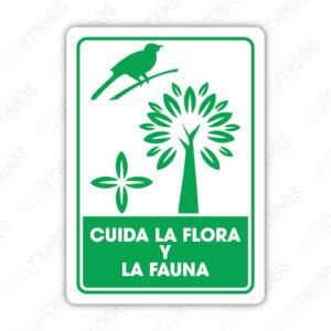 SRE 032 Señalamiento Cuida la Flora y la Fauna
