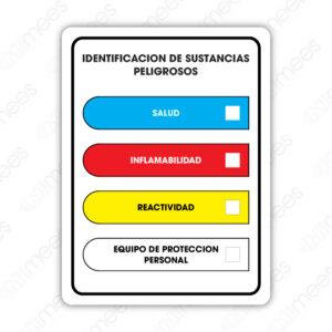 SSC 004 Señalamiento Sistema de Identificación de Materiales Peligrosos