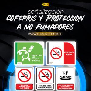 Señalización COFEPRIS y Protección a No Fumadores