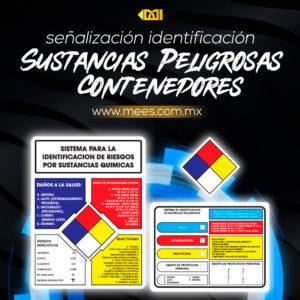 Señalización Identificación de Sustancias Peligrosas Contenedores